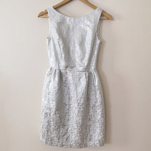 ERIN by Erin Fetherston Silver Bow Back Dress
